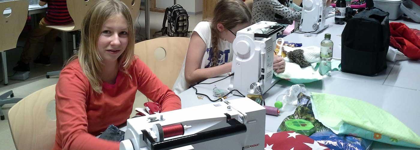 Neue Nähmaschinen für den Handarbeitsunterricht