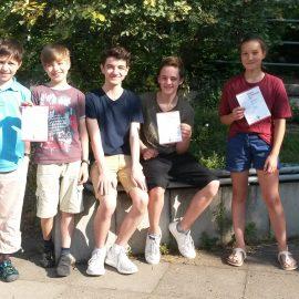 Junge Rechenkünstler beim Känguru-Wettbewerb