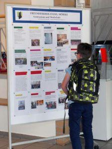 Info-Wand des Freundeskreises: Unsere Aktionen