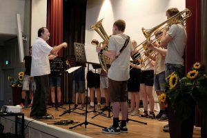 Sommerfest: Blechbläser Ensemble beim Festakt