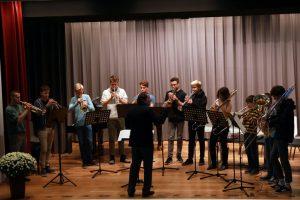 Das Blechbläser-Ensemble vom Ev. Mörike