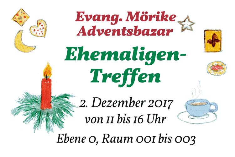 Einladung Ehemaligentreffen Adventsbazar 2017