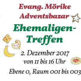 Einladung zum Ehemaligen-Treffen am Ev. Mörike-Adventsbazar am 2.12.2017