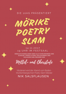Poetry Slam am Ev. Mörike 2017