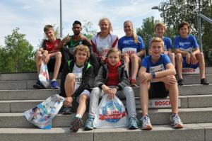 Schüler vom Evang. Mörike beim Stuttgart-Lauf 2018